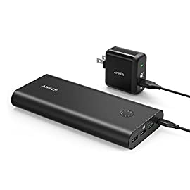 Anker PowerCore+ 26800, Premium Portable Charger, High Capacity 26800mAh External Battery with Qualcomm Quick Charge 3.0 (in- and Output), Includes PowerPort+ 1 Wall Charger 1 The Anker Advantage: Join the 50 million+ powered by America's leading USB charging brand. Qualcomm Quick Charge 3.0: Using Qualcomm's advanced Quick Charge 3.0 technology, PowerCore+ allows compatible devices to charge 85% faster. Recharges itself 2X as fast with the included wall charger. Fast-Charging Technology: Exclusive to Anker, PowerIQ and VoltageBoost technologies combine to provide universal full speed charging for non-Quick Charge devices, up to 3 amps per port.