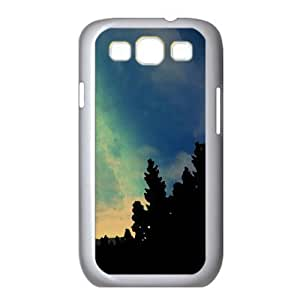 Starry Night Sky Watercolor style Cover Samsung Galaxy S3 I9300 Case (Mountains Watercolor style Cover Samsung Galaxy S3 I9300 Case)