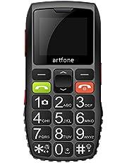 artfone C1 Senioren Mobiele Telefoon Zonder Contract   Dual SIM Mobiele Telefoon met Noodoproep Knop   Gepensioneerde Mobiele Telefoon Grote Knoppen   2G GSM Mobiele Telefoon  1400 mAh Batterij Lange Standby-tijd