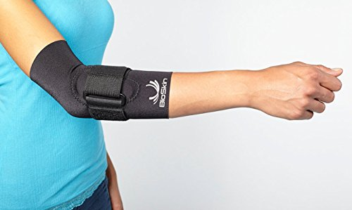 BioSkin Tennis Elbow Brace - Elbow Compression Sleeve with Support Strap and Gel Pad - For Tennis Elbow and Golfer's Elbow and Tendinitis (L) by BioSkin (Image #3)