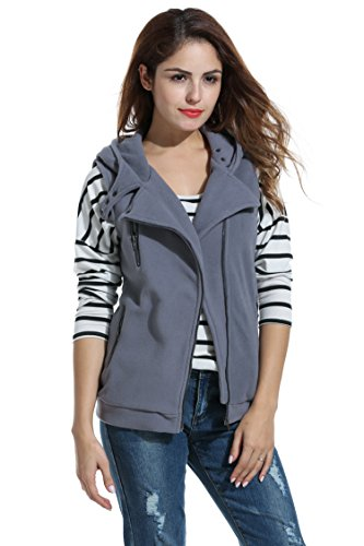 Meaneor Womens Hooded Asymmetric Pockets product image