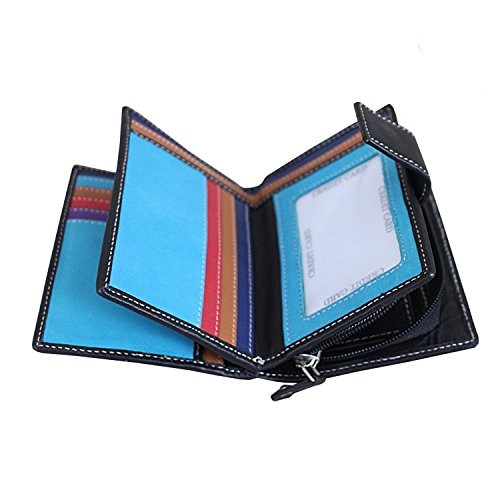 Colored Leather blocking Stitched Compartment