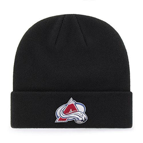New Colorado Avalanche Nhl Cap (NHL Colorado Avalanche OTS Raised Cuff Knit Cap, Black, One Size)