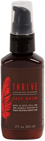 Thrive Natural Face Lotion for Men - Aftershave Balm & Facial Moisturizer for Men with Unique Premium Natural & Organic Ingredients that Keep Skin Hydrated and Prevent Irritation - Mens Face Lotion