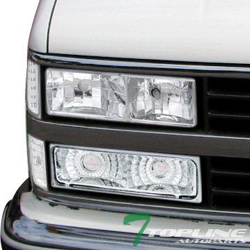 Topline Autopart Chrome Lights Headlights