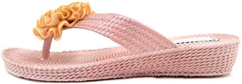 Damer / Kvinner Sommer / Ferie / Strand Millie Blomst Sandaler / Sko / Flip Flops Gull