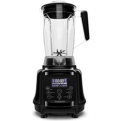 AIMORES Commercial Blender 75oz 3 In 1 Programmable Smoothie Juice Ice Cream Mixer High Speed 28 000 Rpm Auto Clean Timing 6 SS Blades ETL FDA Approved W Tamper Recipe Black