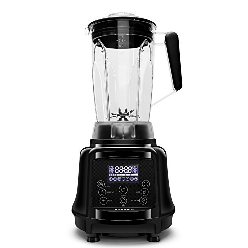 Commercial Blender AIMORES, 75oz 3-in-1 Programmable Smoothie Juice Ice Cream Mixer, High Speed (28,000 rpm), Auto Clean & Timing, 6 SS Blades - ETL/FDA Approved - w/ Tamper & Recipe (Black) by Aimores