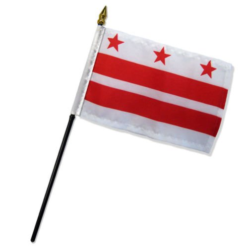 Wholesale Lot of 6 Washington DC District of Columbia 4''x6'' Desk Table Flag BEST Garden Outdor Decor polyester material FLAG PREMIUM Vivid Color and UV Fade Resistant by Moon