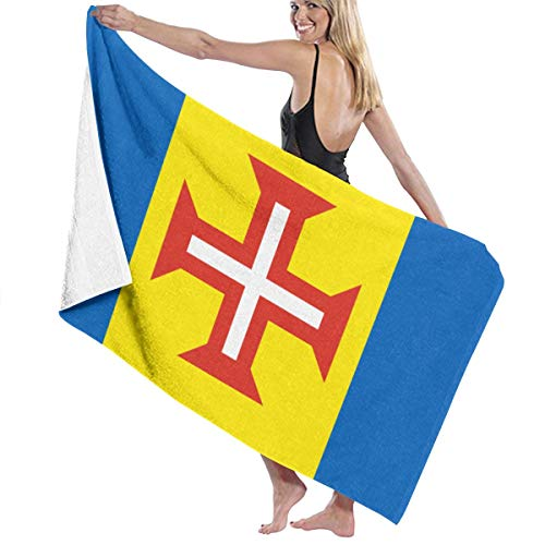 CHILL TEK Flag of Madeira Microfiber Bath Towel for Unisex Eco-Friendly Soft for Sports Spa Hair Drying Yoga