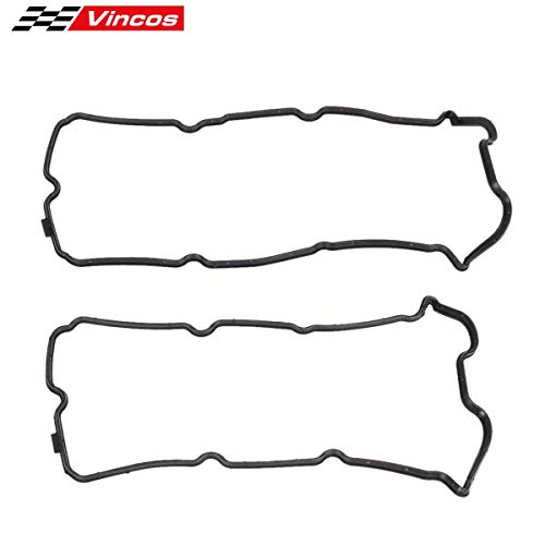 Vincos Engine Valve Cover Gasket Left & Right Replacement For 2008-2001 3.5L V6 VQ35DE 2015-2001 4.0L 3.5l V6 VQ40DE 2012-2009 Suzuki ()