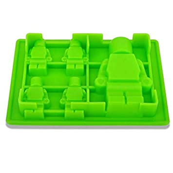 Mold China - 1pc 5 Holes Robot Shape Ice Mold Silicone Cube Tray Maker Cream Lego Baking Decorating - Robot Aspiradora Trays Lego Tray Silicone For Cream ...
