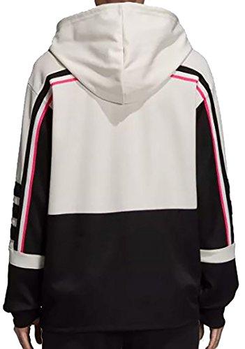 Cappuccio Donna Cbianco Hood Adidas nero Felpa Con BwRwtq