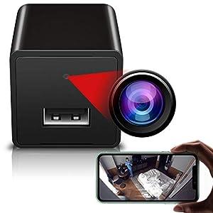 Flashandfocus.com 41MAkDMiv2L._SS300_ Wireless WiFi Camera, 1080p Hidden Spy Camera Charger, USB Charger Camera, Motion Detection Cam, Remote Phone Control