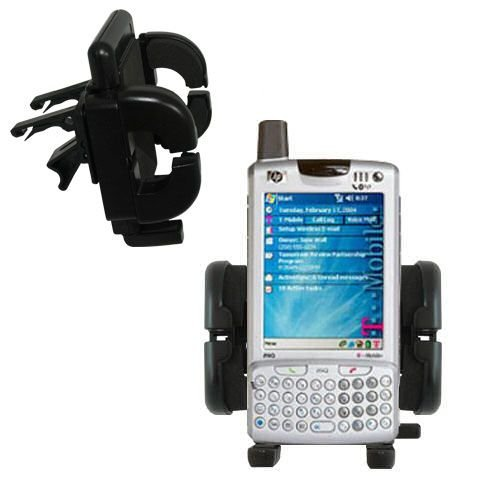 Gomadic Air Vent Clip Based Cradle Holder Car / Auto Mount suitable for the HP iPAQ h6315 h6325 h6365 Series (H6365 Series)