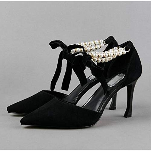 Heel Stiletto ZHZNVX Black de Spring Suede Zapatos Mujer Comfort Black Heels qH8ZUnxH0