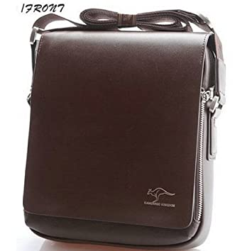 Hot Sale New 2014 Fashion Designer Kangaroo Brand Handbags Men Shoulder Bags  Genuine Leather Men Messenger Bag Black Brown (Brown)  Amazon.co.uk  Luggage 7edd8ea978337