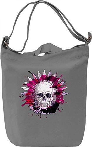 Splashing Skull Borsa Giornaliera Canvas Canvas Day Bag| 100% Premium Cotton Canvas| DTG Printing|
