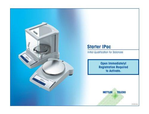 Mettler Toledo STARTERPAC Starter Service Package with NIST Certificate