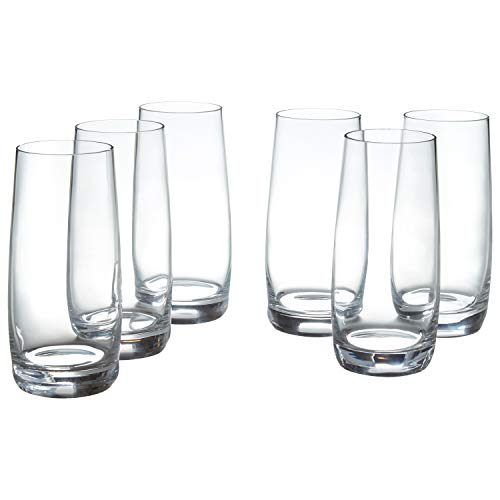 Stone & Beam Traditional HighBall Drinking Glass, 16-Ounce, Set of 6
