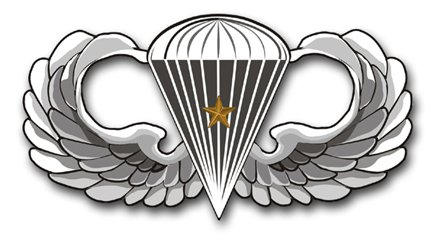 MilitaryBest US Army Basic 1 Combat Jump Wings Decal Sticker (1 Combat Jump Wings)