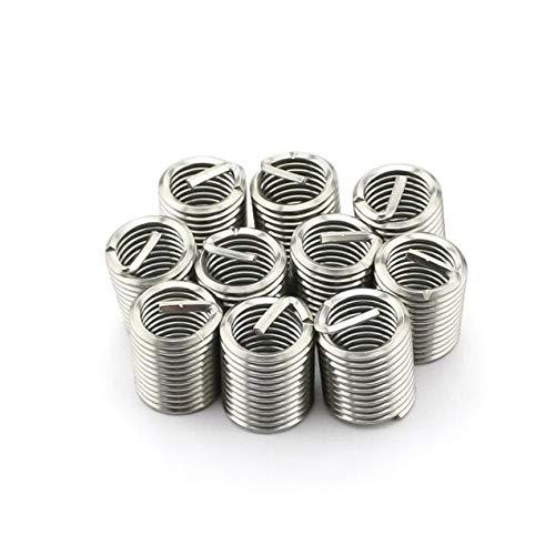 m142.5D Wire Screw Sleeve Thread Repair Insert Ochoos 50pcs M1422.5D Wire Thread Insert 304 Stainless Steel M14 Screw Bushing
