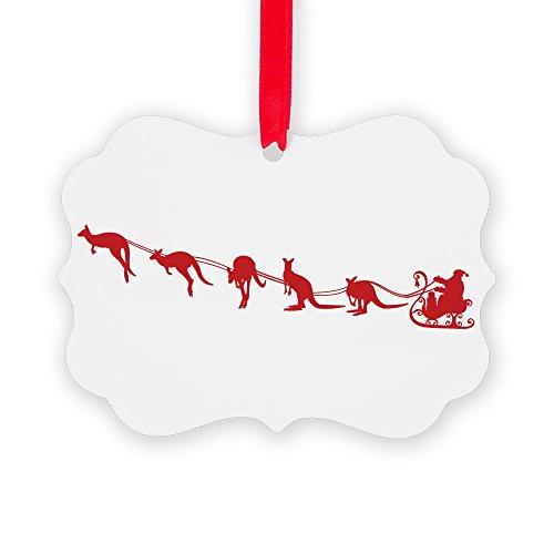 CafePress Kangaroo Santa Ornament Christmas Ornament, Decorative Tree Ornament