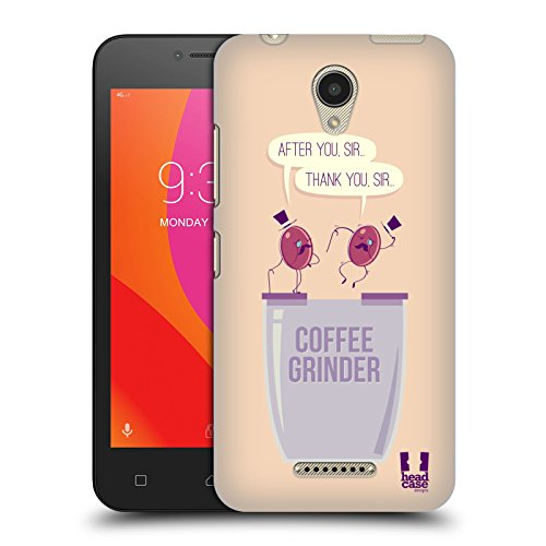 Head Case Designs Grinder Waggish Coffee Bean Hard Back Case for Lenovo B / Vibe B