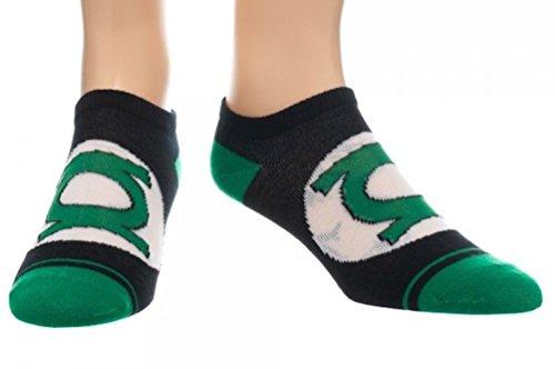Green Lantern Costume Spandex (DC Comics Green Lantern Emblem Costume Pedi Ankle Socks New Licensed 1 Pair)