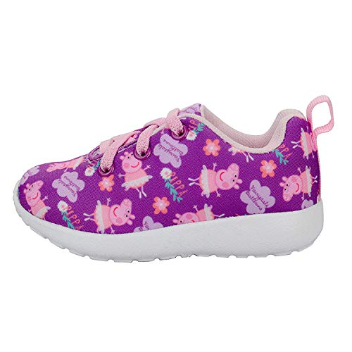 Peppa Pig Girls Sneakers, Size 5 Purple