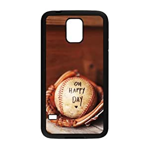DIY Cover Case with Hard Shell Protection for SamSung Galaxy S5 I9600 case with baseball lxa#242653 Kimberly Kurzendoerfer