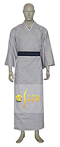 Mtxc Men's Fruits Basket Cosplay Shigure Sohma Kimono Size X-large Grey