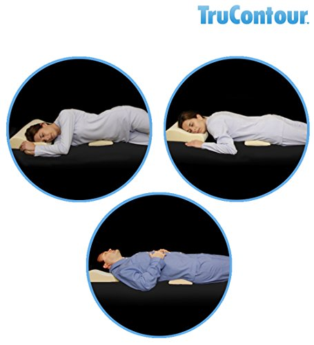 TruContour Super Lumbar Pillow for Sleeping - Support The Lower Back in Bed with Medical Grade Memory Foam