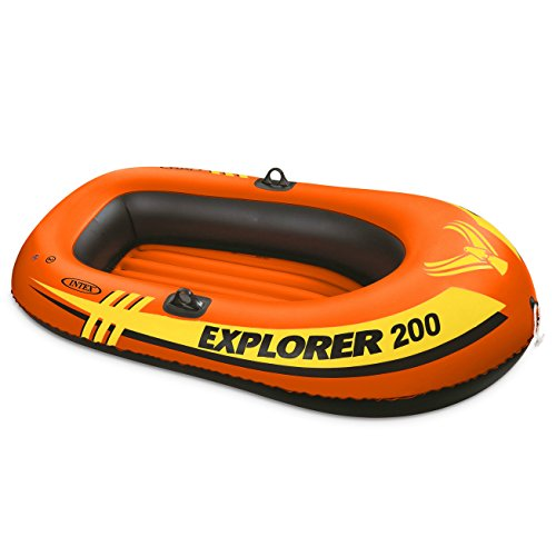 Electric Fishing Boat (Intex Explorer 200, 2-Person Inflatable Boat)