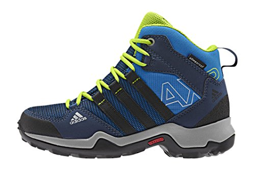 adidas Ax2 Mid Cp K, Zapatillas de Deporte Unisex Infantil Azul / Negro / Verde (Azuimp / Negbas / Seliso)