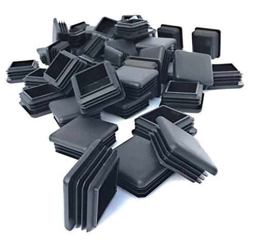 (30 Pack) (10-14 Gauge) Heavy Duty Black Plastic Square Plug 1.5