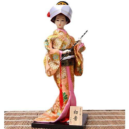 Ochoos ラブリーハンドメイドクラフト 30cm 美しい日本Geisha人形 ホームデコレーション クリエイティブギフト ヴィンテージホームデコレーション B07NSC6FMC