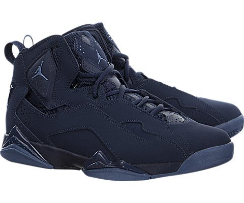 Nike Jordan Men's Jordan True Flight Basketball Shoe Obsidian/Ocean Fog 7.5 D(M) US by Jordan (Image #1)