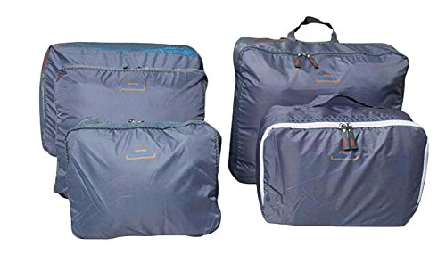 Reisepaket Kleidung Erhalten Badezimmer Organizer Grau Set von 5