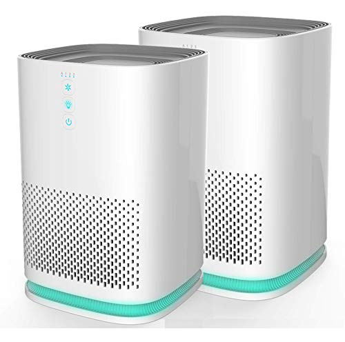 Medify MA-14W2 Medical Grade Filtration H13 HEPA Air Purifier for 200 Sq. Ft. (99.9%) Allergies, dust, Pollen, Perfect for Office, bedrooms, dorms and Nurseries – White, 2-Pack