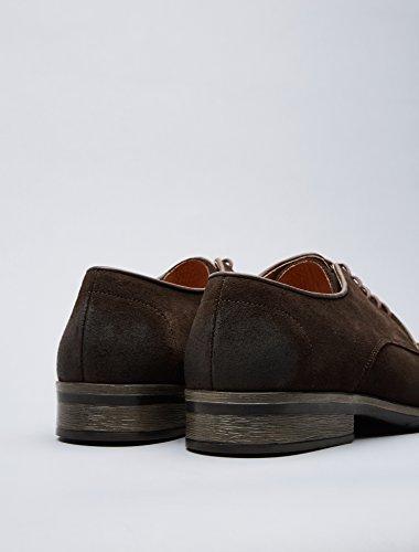 Brown in Marrone Scamosciata FIND Uomo Stringata Pelle Scarpa nwp08a