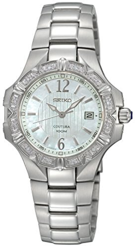 Seiko Women's SXDC33 Diamond Coutura White Dial (Coutura Mother Of Pearl Dial)