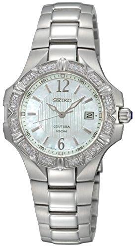 Seiko Women's SXDC33 Diamond Coutura White Dial (Coutura Mother Of Pearl Dial)