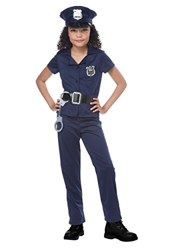 California Costumes Cute Cop Child (Lady Cop Costumes)