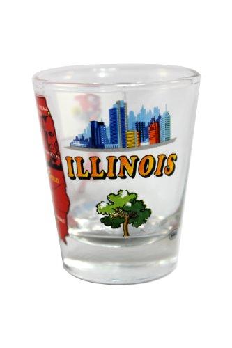 Souvenir Shot Glass - Illinois