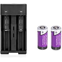 2 Pack 16340 Rechargeable CR123A Battery,Zeasun 3.7v 700mAh Lithium-ion Rechargeable Batteries With A Smart 16340 Battery Charger