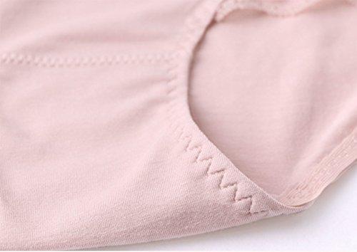 Mujer De La Ropa Interior Del Borde Del Cordón Atractivo De Los Pantalones De Algodón 2 Paquetes A3