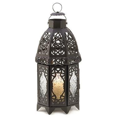 Gifts & Decor Lattice Lantern Candle Holder Home Wedding Decor, Black