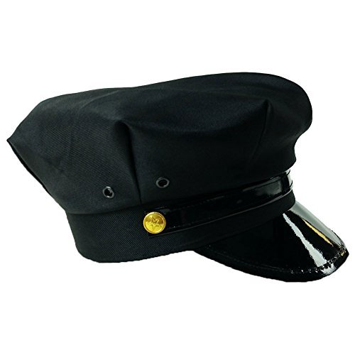 620b7ae3099 Amazon.com  Funny Party Hats Chauffeur Hat - Limo Driver Hat - Police Hat -  Costume Hats Black  Clothing