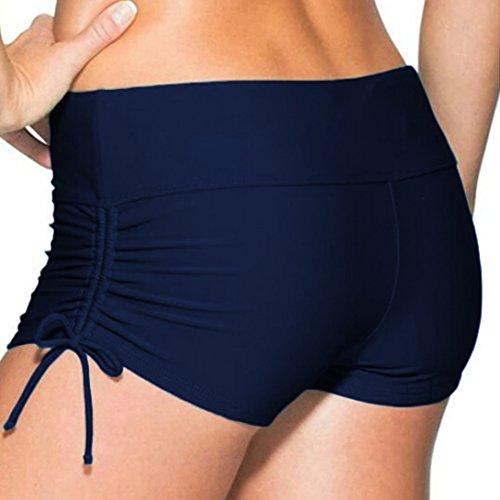 Womens Boardshorts Swimming Shorts Bikini Tankini Bottom Mini Board Short Swimwear Navy (Boardshort Blue Clothing)